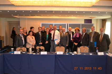 Pictured are Prof. Dr. Ulrich Karpen and Prof. Dr. James A. Sweeney (centred), and colleagues at the workshop in Pristina, Kosovo.