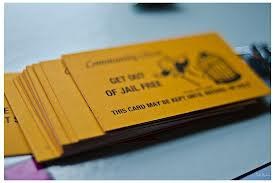 get out of jail free card from monopoly